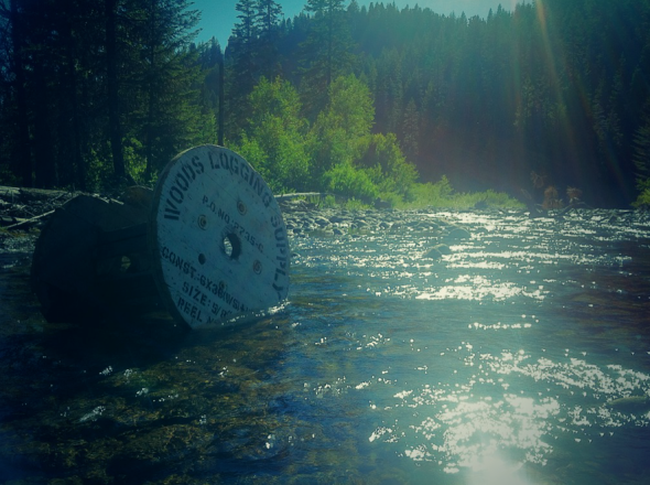 Fly fishing Teanaway River.